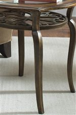 Gracefully Arched Resin Legs add Style and Strength to Each Table.