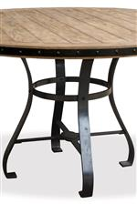 Metal Pedestal Base Featured in Round Table