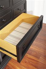Drawers Feature Dovetail Joinery & Decorative Print Bottoms