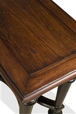 Features Nutmeg Table Tops with Beautiful Distressing