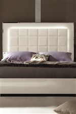 The Upholstered Bed is Available with LED Lighting or Footboard Storage, Adding Convenience to High Fashion