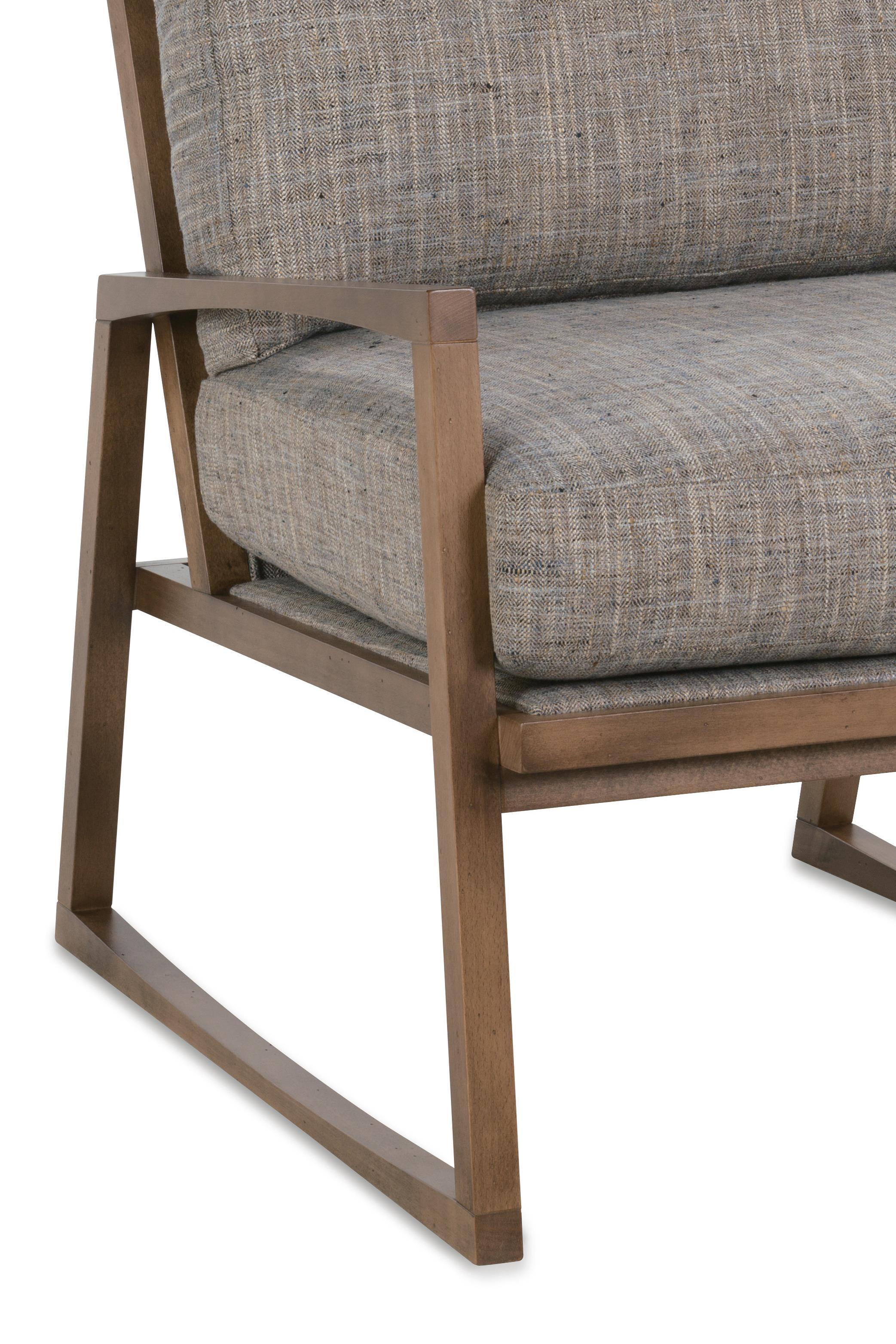 Rowe Beckett Modern Wood Frame Chair   Belfort Furniture   Upholstered  Chairs