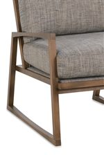Wood frame and loose back and seat cushions