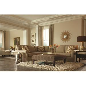 Rowe Brentwood Transitional Sectional Sofa with Chaise