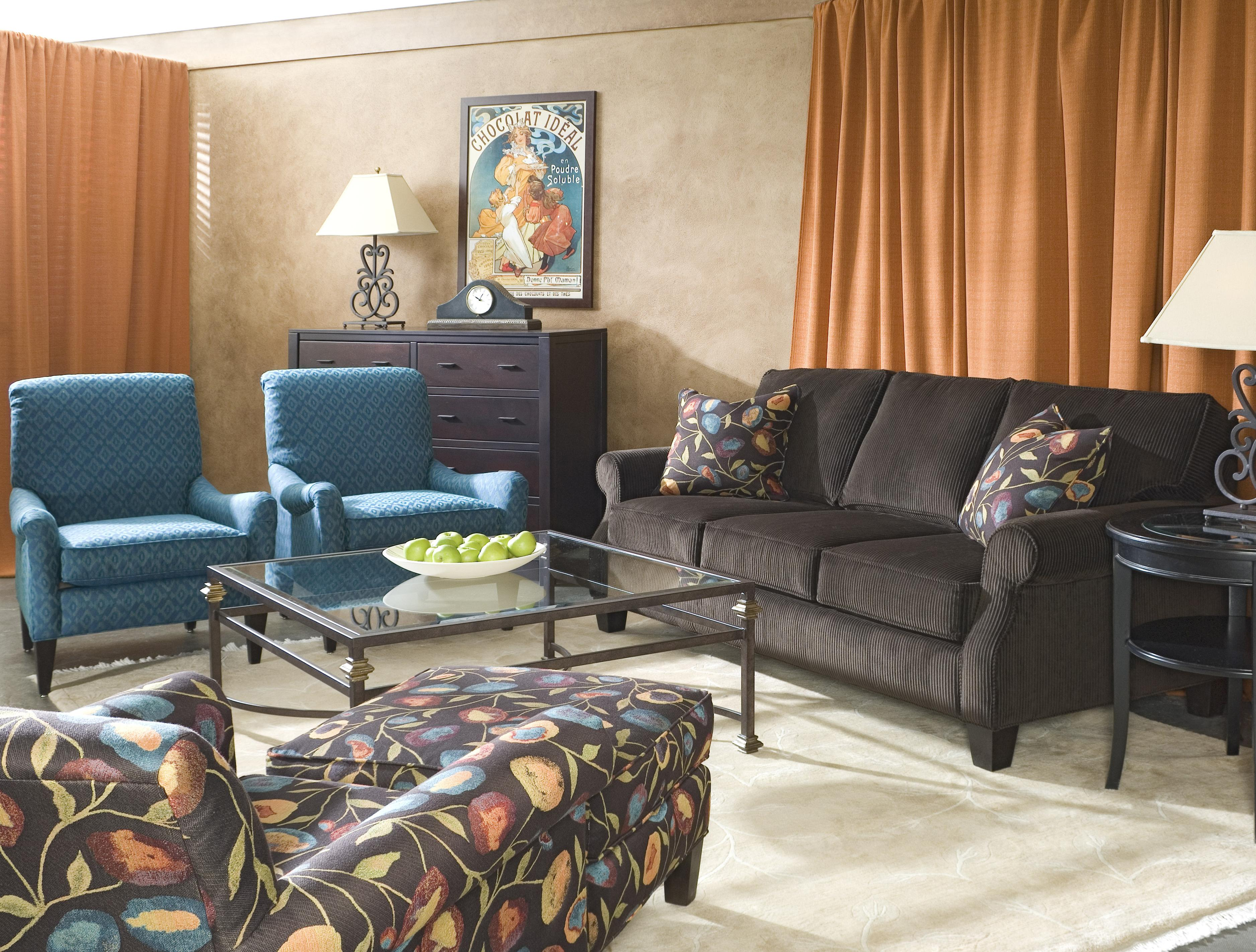 Kimball Bedroom Furniture Rowe Kimball Sofa With Rolled Arms Exposed Wood Legs Belfort