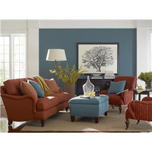 Rowe Markham Upholstered Sofa with Two Accent Pillows