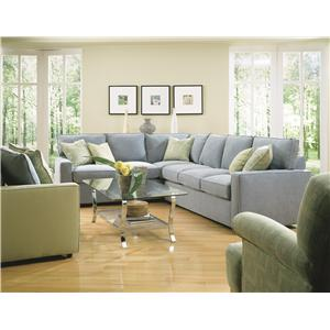Rowe Monaco Transitional Sofa with Chaise