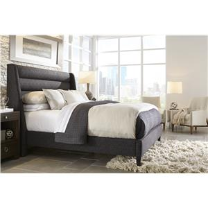 Rowe My Style - Beds Fisher 60'' Queen Upholstered Bed with Nail Head Trim