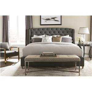 Rowe My Style - Beds Sedgefield 70'' Queen Upholstered Bed with Nail Head Trim