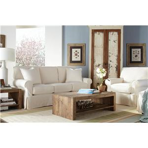 Rowe Nantucket  Casual 2-Seat Slipcover Sofa