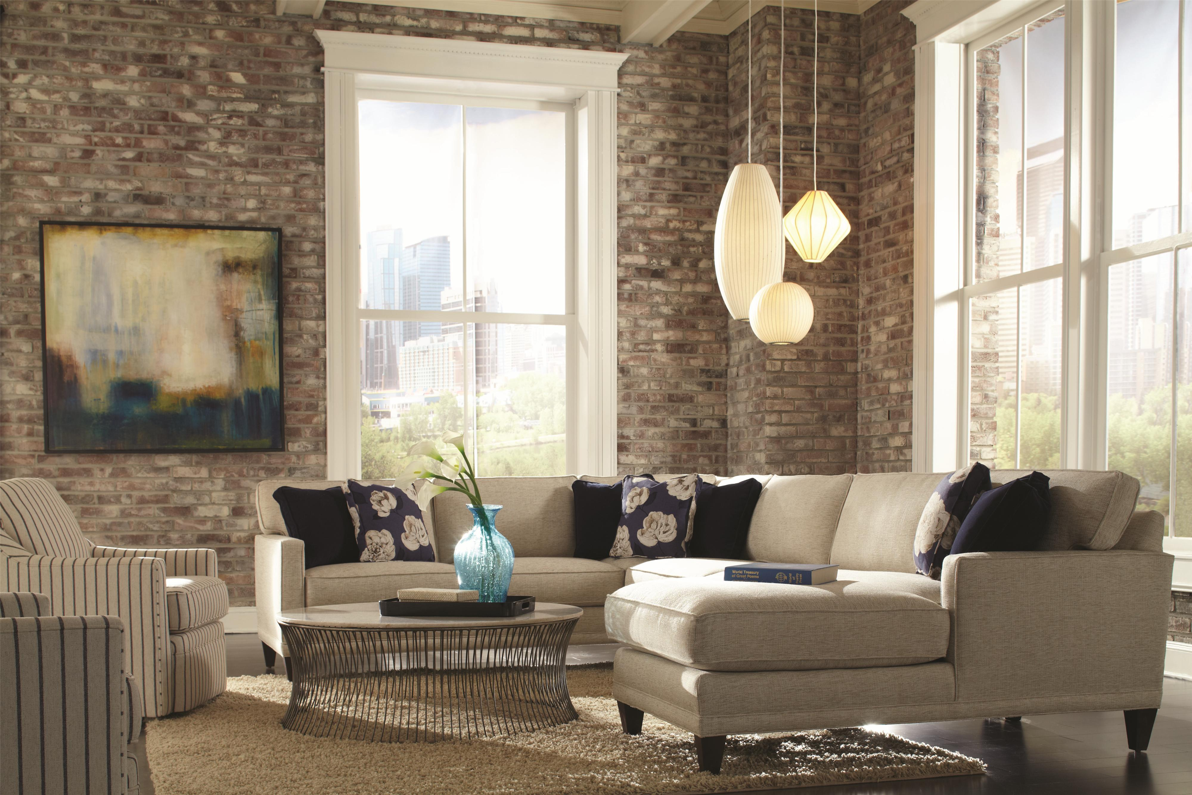 Rowe Townsend Casual Sectional Sofa Group Belfort Furniture