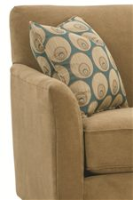 Flair Tapered Arms and Tight, Attached Back Cushions