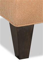 Tapered Wood Block Legs with Welt Cord Trim
