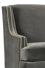 Slender, Sloped Track Arms, Available with or Without Nailhead Studs