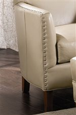 Tapered Arms, Nailhead Trim, and Tapered Feet
