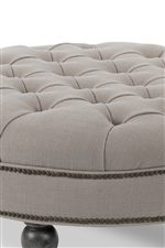 Button-Tufted Seat Surface