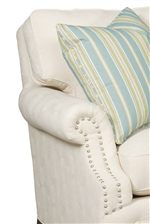 Low, Rolled Arms with Nailhead Trim and Boxed-edged T Cushions
