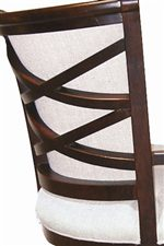 A Double X Exposed Wood Back gives this Corporate Chair a Flair for the Elegant