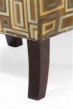Tapered Wood Leg on Ottoman