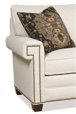 Transitional Fashion at its Best, This Style Features a Timeless Silhouette and Arms with a Square Nailhead Border