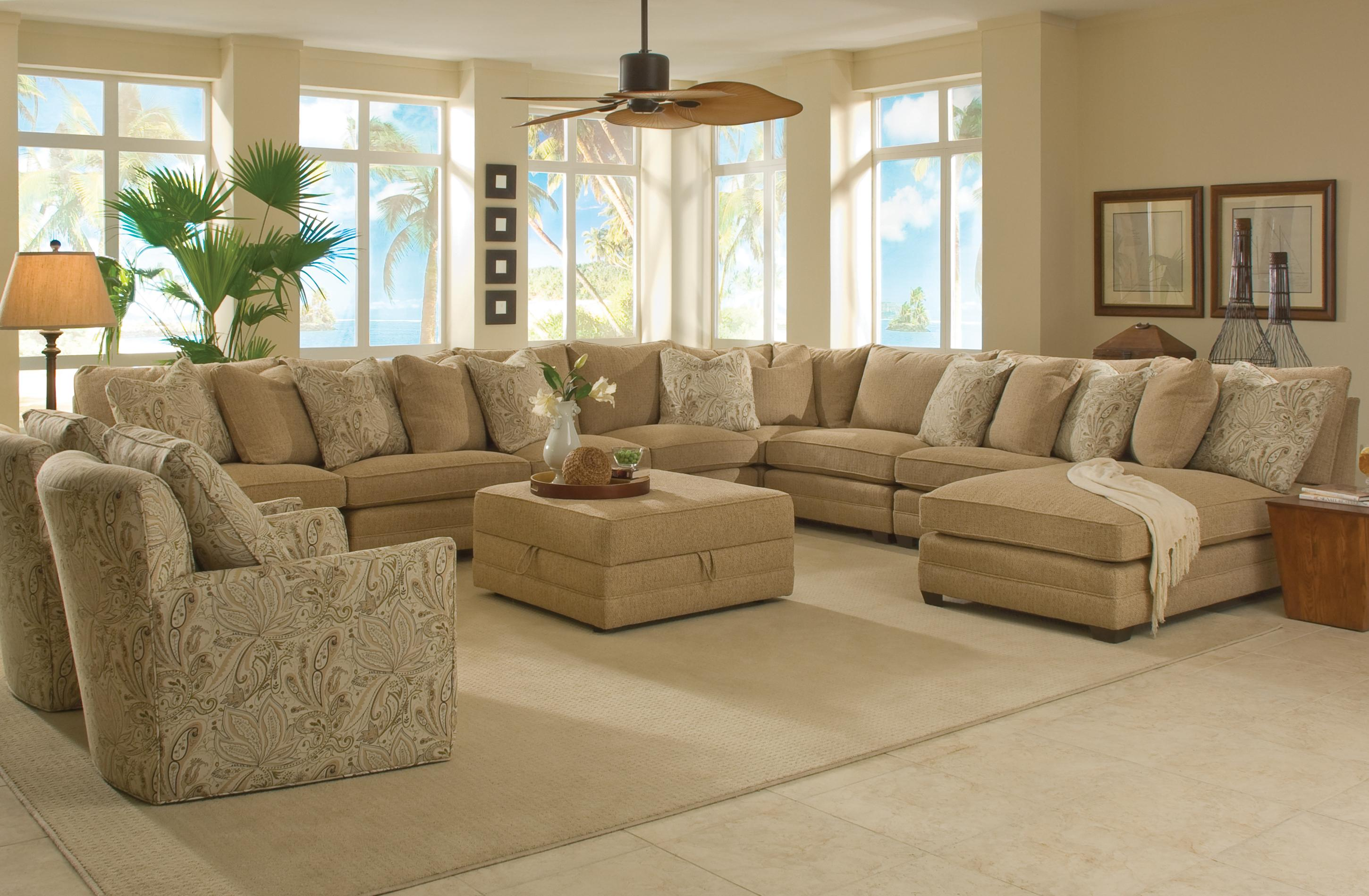 Sam Moore Margo Wide Sectional Sofa