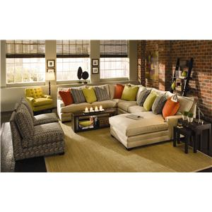 Sam Moore Margo Wide Sectional Sofa Moore S Home Furnishings
