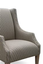 Wing Chair with Modern Sloped Track Arms