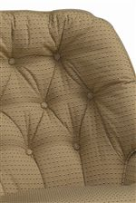 Curved Button-Tufted Back Cushion