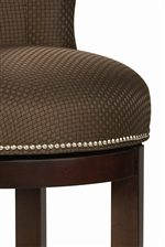 Round Seat Cushion with Nailhead Trim