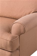 Welt Cord Trim Outlines Arms and Cushions Providing Modest Decoration in a Coordinating Color