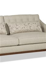 Button-Tufted Back Cushions and Wide, Kidney Pillows