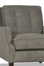 Boxed-edged Back Cushions Look Cozy with Touches of Button Tufting
