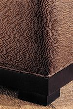 Block Style Bases with Welt Cord Trim Give Contemporary Elegance that is Clean and Sophisticated