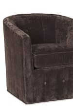 Swivel Tub Chair with Chic Button-Tuft Detailing