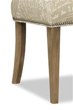Slender, Tapered Block Legs in Your Choice of Wood Finishes