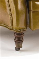 Decoratively Turned Wood Leg with Caster