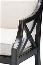 X Framed Arms Give Detailed Contemporary Style