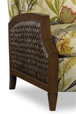 Wicker Panel Arm with Tapered Legs