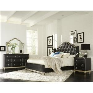 Samuel Lawrence Avanti King Bed w/ Tufted Headboard