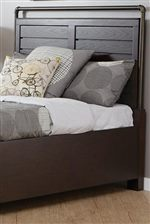 Paneled Headboard with Metal Trim