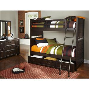 Samuel Lawrence Clubhouse Casual Bunk Bed with Underbed Storage and Extention