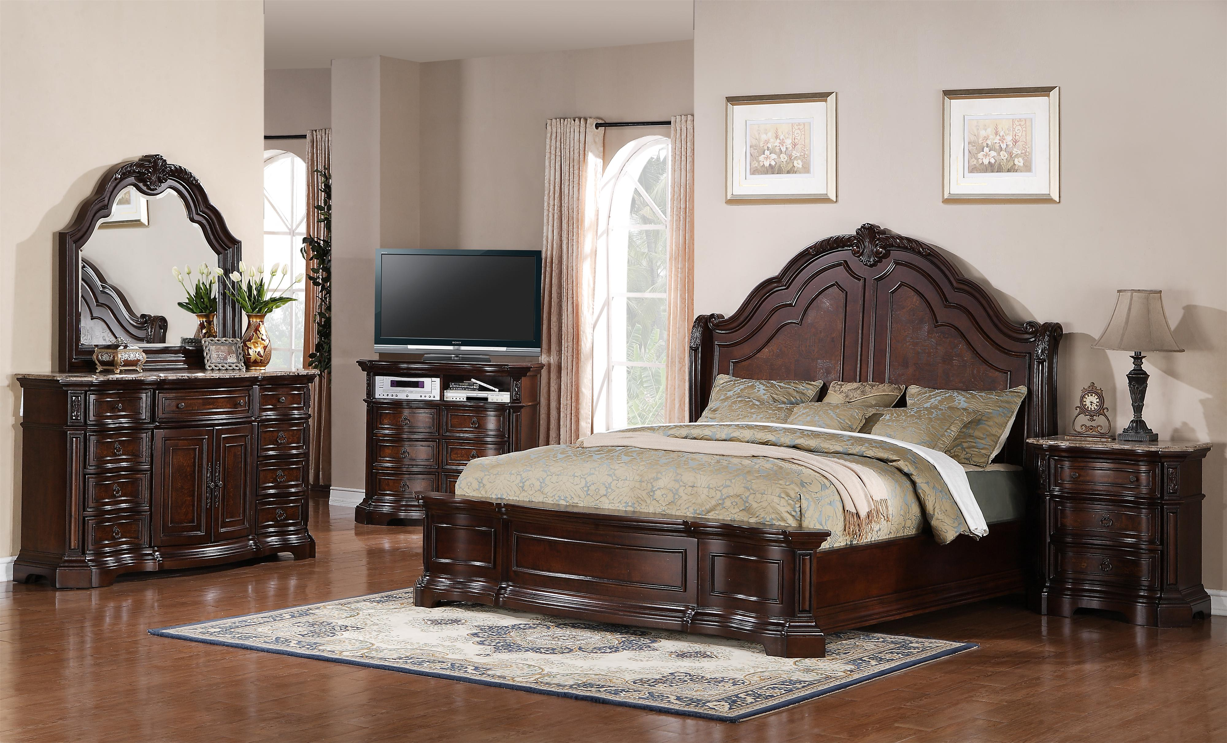 Samuel Lawrence Edington Queen Bedroom Group - Item Number: 8328 Q Bedroom Group 1