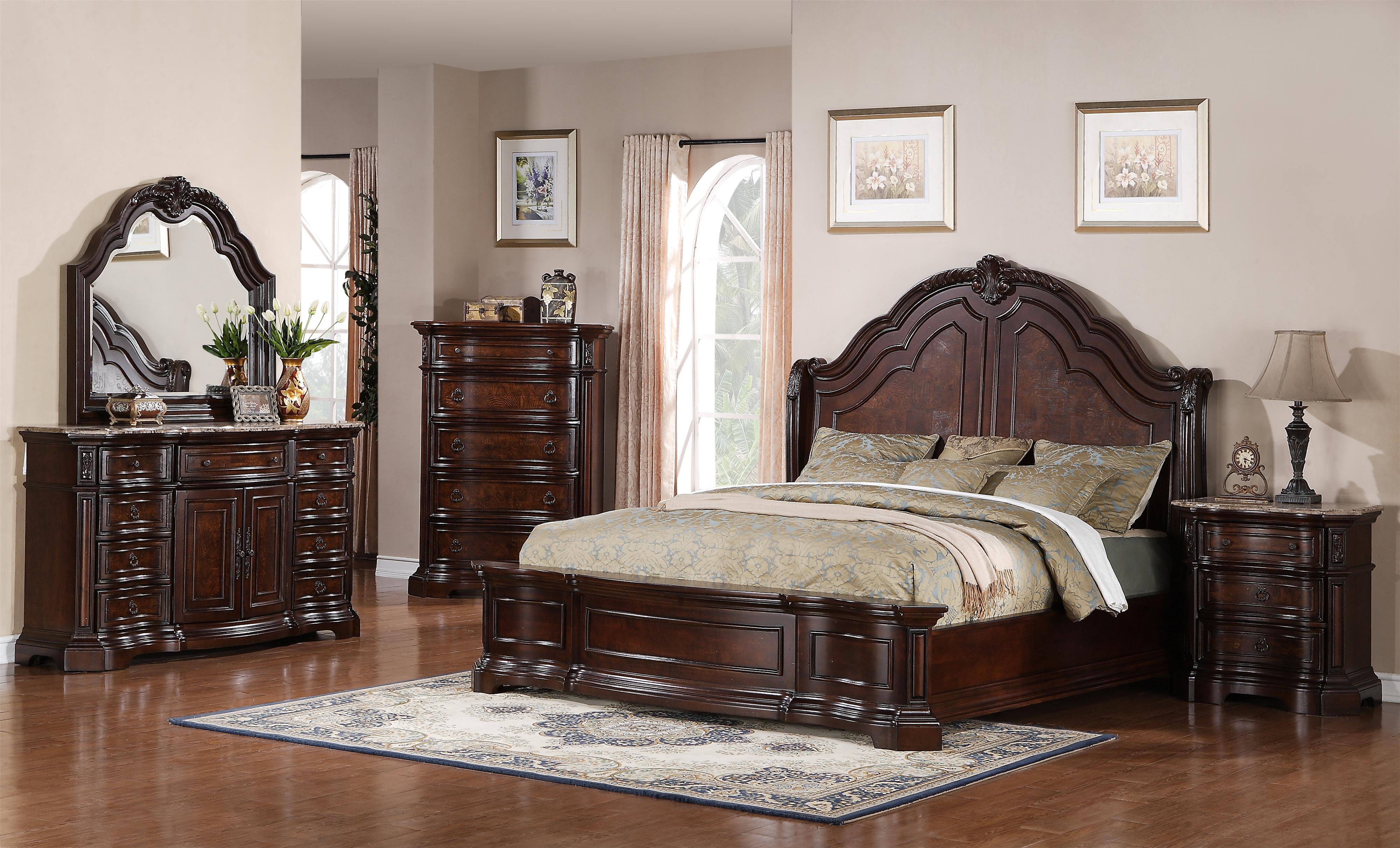Samuel Lawrence Edington Queen Bedroom Group - Item Number: 8328 Q Bedroom Group 2