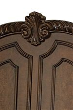 Palmette Motif Carvings on Select Items
