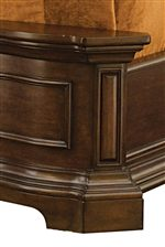 Raised Paneling and Bracket Feet add to the Traditional Nature of this Collection