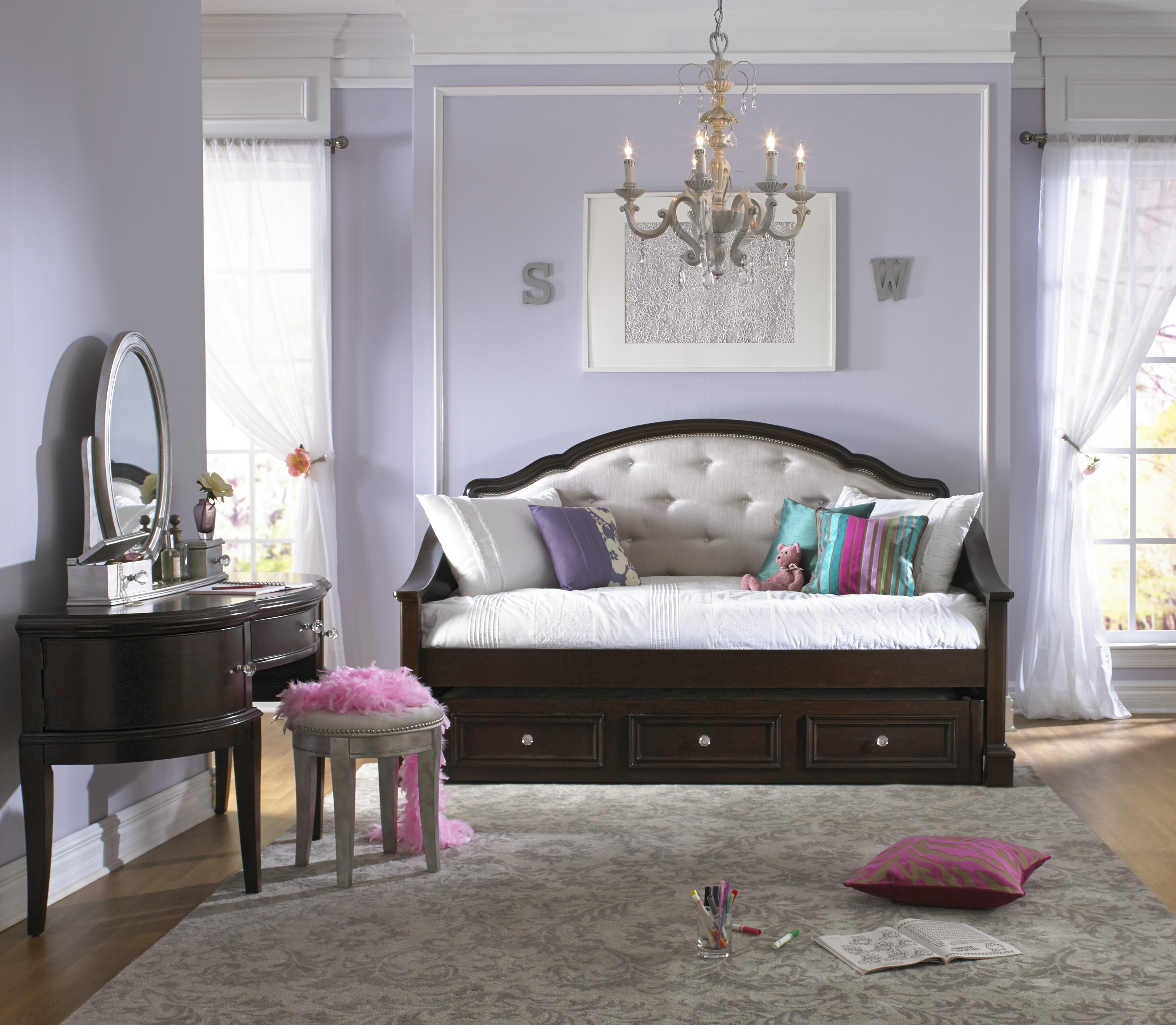 Samuel Lawrence Glamour Rhinestone Tufted Daybed w/Trundle | Godby ...