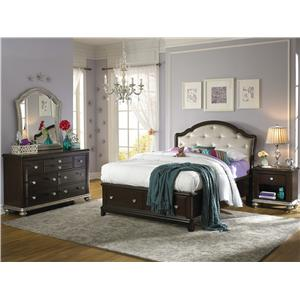 Samuel Lawrence Glamour Full Bedroom Group