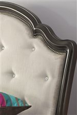 Rhinestone Tufted Upholstery and Nailhead Detailing