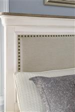 Samuel Lawrence Lafayette Traditional White California King Bed with Decorative Picture Frame Molding
