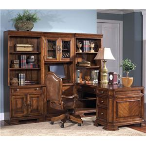 Samuel Lawrence Madison Double Pedestal Desk with Hutch